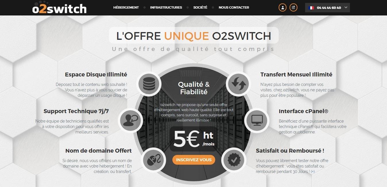 Installer WordPress O2Switch : Offre Unique accueil Ftp Mysql Migration Config Mises à jour Mutualisé Données mysql Migrer Bases de données
