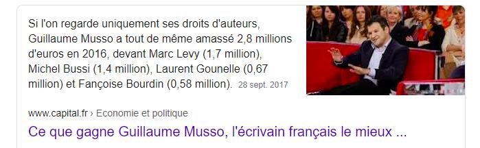 salaire écrivain français